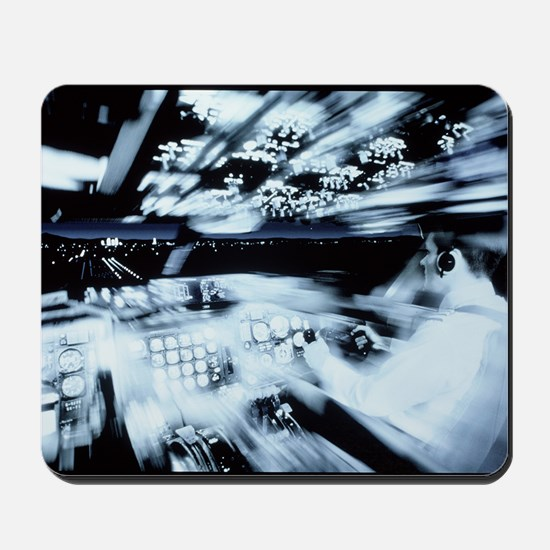 Training of a co-pilot in a flight simul Mousepad