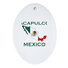 Acapulco, Mexico Oval Ornament