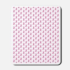 Breast Cancer Awareness Pink Ribbon Mousepad