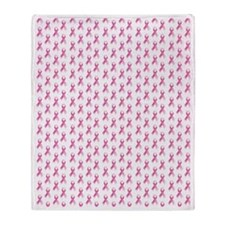 Breast Cancer Awareness Pink Ribbon Throw Blanket
