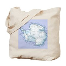 Digital illustration of Antarctica Tote Bag
