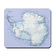 Digital illustration of Antarctica Mousepad