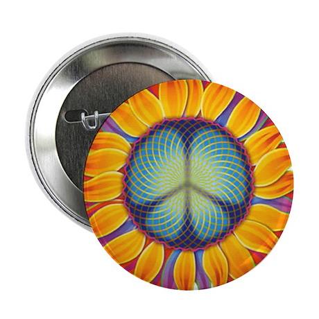 Peace Flower Button