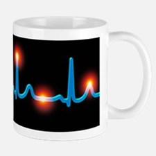 ECG of a normal heart rate Mug