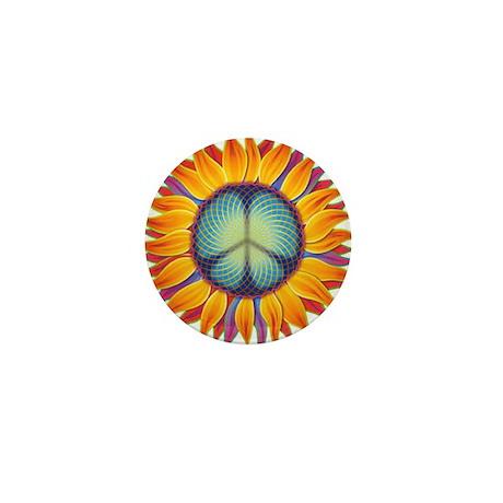 Peace Flower Mini Button (10 pack)