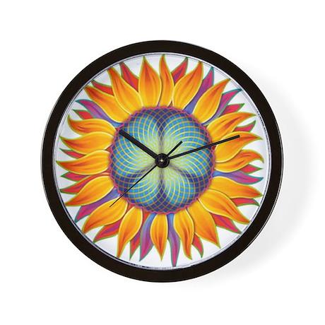Peace Flower Wall Clock