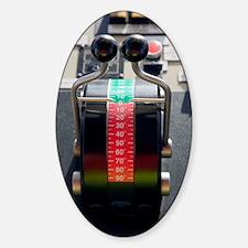 Tugboat pitch controls Sticker (Oval)