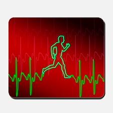 ECG and man running Mousepad