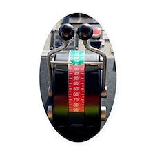 Tugboat pitch controls Oval Car Magnet