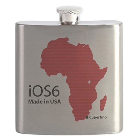iOS6 Made in USA Flask