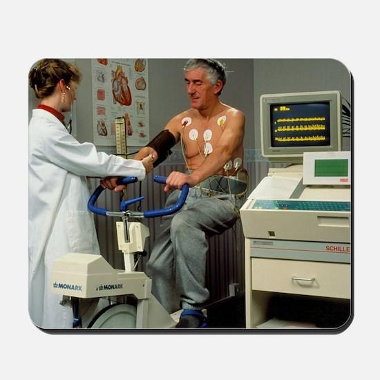 ECG stress test on male patient Mousepad