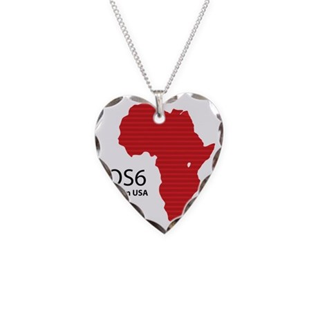 iOS6 Made in USA Necklace Heart Charm