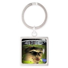 Face transplant Square Keychain