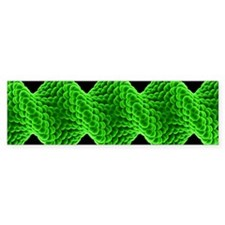 Twisted nanotube, molecular model Bumper Sticker