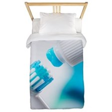Electric toothbrush and toothpaste Twin Duvet