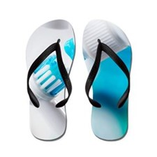 Electric toothbrush and toothpaste Flip Flops