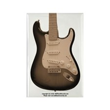 """Antique"" Guitar Rectangle Magnet"