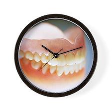 False teeth Wall Clock