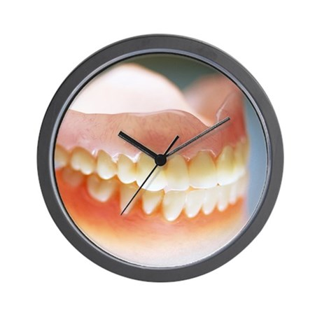 False teeth Wall Clock