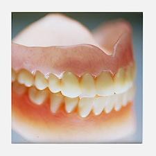False teeth Tile Coaster