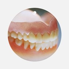 False teeth Round Ornament