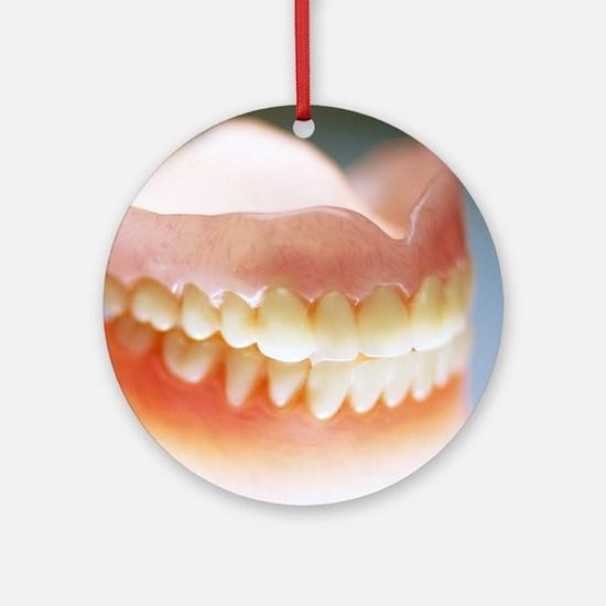 False teeth Round Ornament