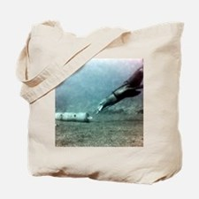 US Navy sea lion training underwater Tote Bag