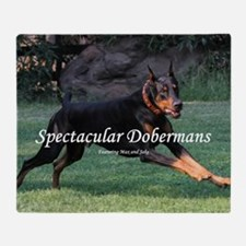 Spectacular Dobermans Throw Blanket
