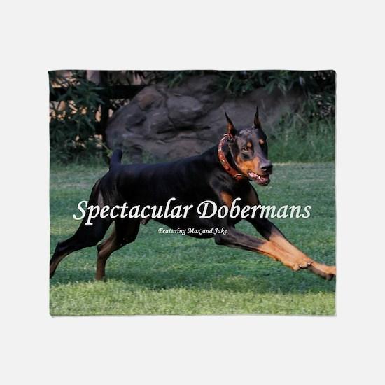 Spectacular Dobermans Throw Blanket