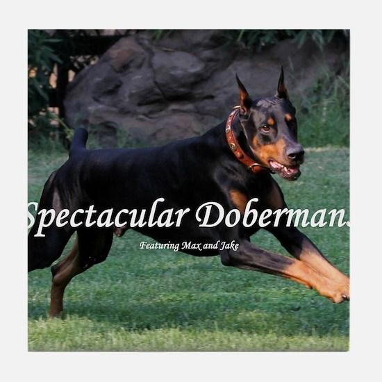 Spectacular Dobermans Tile Coaster