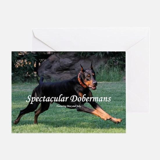 Spectacular Dobermans Greeting Card