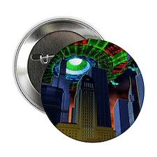 "UFO over city 2.25"" Button"