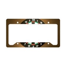 Dart board License Plate Holder