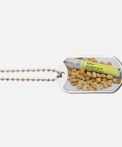 EpiPen adrenaline syringe and peanuts Dog Tags