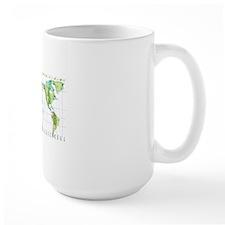 Digital illustration of world map showi Mug