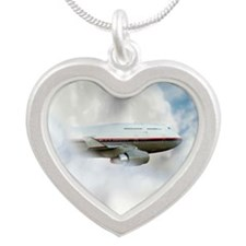 UFO sighting Silver Heart Necklace