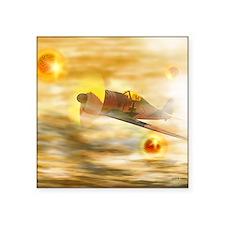 "UFOs from World War II Square Sticker 3"" x 3"""