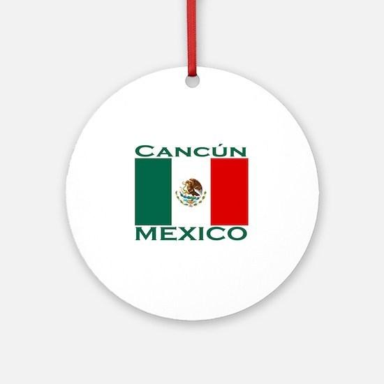 Cancun, Mexico Ornament (Round)