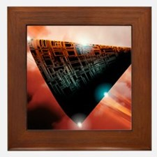 Unidentified flying object Framed Tile