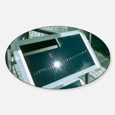 View of an amorphous solar cell Sticker (Oval)