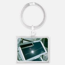 View of an amorphous solar cell Landscape Keychain