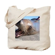 US Navy California sea lion Tote Bag