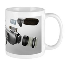 Video camera parts, computer artwork Mug