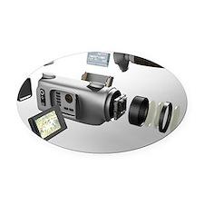 Video camera parts, computer artwo Oval Car Magnet