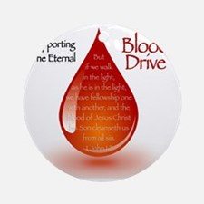 Eternal Blood Drive Round Ornament