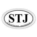 St. John, US Virgin Islands Oval Car Sticker
