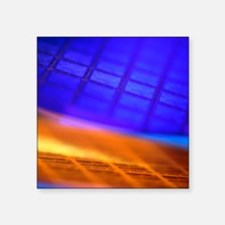 "View of two silicon wafers  Square Sticker 3"" x 3"""