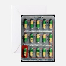 Foil pack of Prozac pills Greeting Card