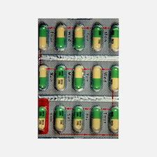 Foil pack of Prozac pills Rectangle Magnet