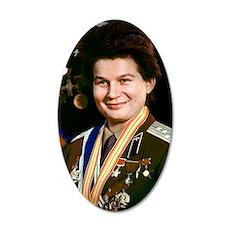 Valentina Tereshkova 35x21 Oval Wall Decal